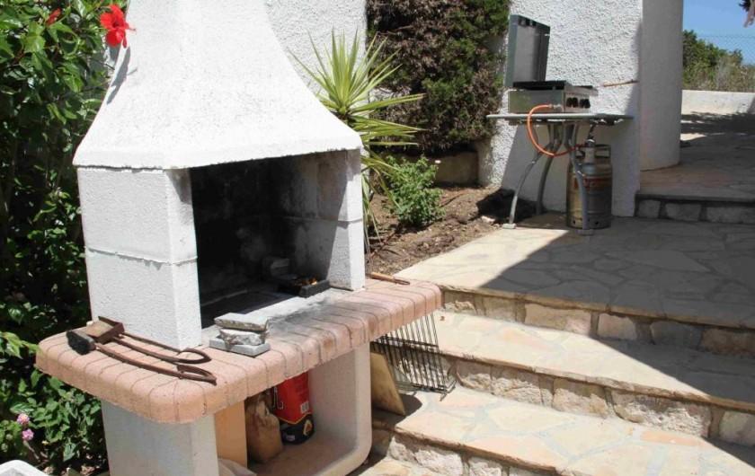 Location de vacances - Villa à L'Ametlla de Mar - grillade plancha gaz