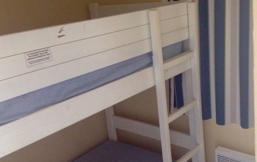 Location de vacances - Appartement à Agay - Chambre enfant  2 lits superposés... avec fenêtre... Calme!!!