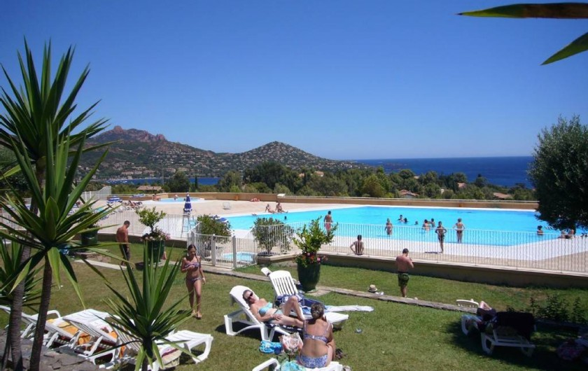 Location de vacances - Appartement à Agay - Piscine face à l'appartement