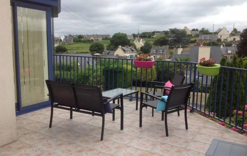 Location de vacances - Maison - Villa à Loguivy - Salon sur terrasse