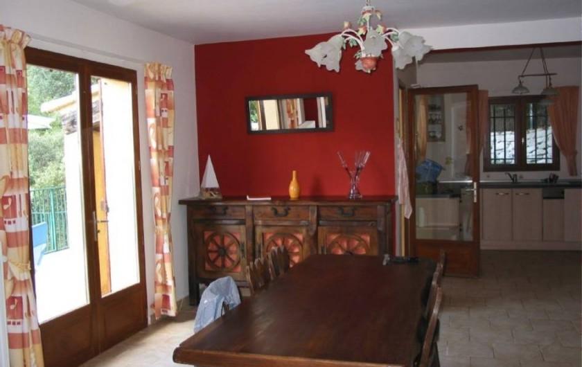 Location de vacances - Villa à Vins-sur-Caramy - Salle-à-manger