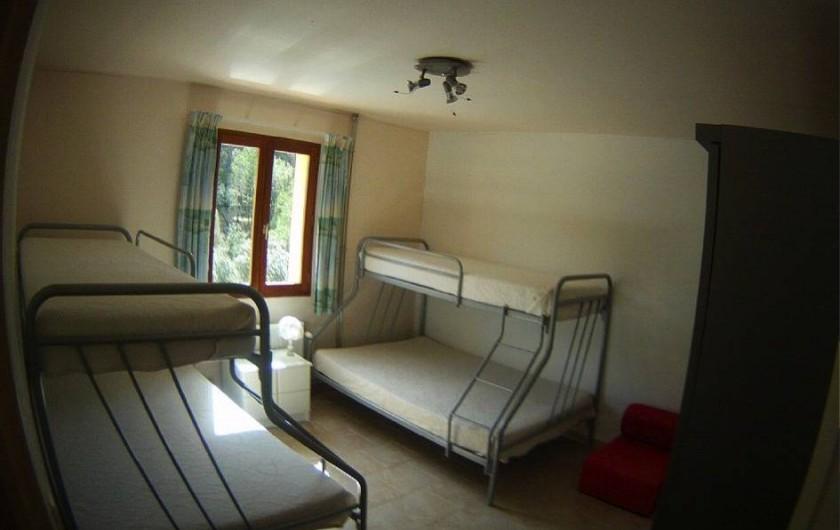 Location de vacances - Villa à Vins-sur-Caramy - Chambre 3 - 1er étage 2X2 lits double superposés 6 personnes