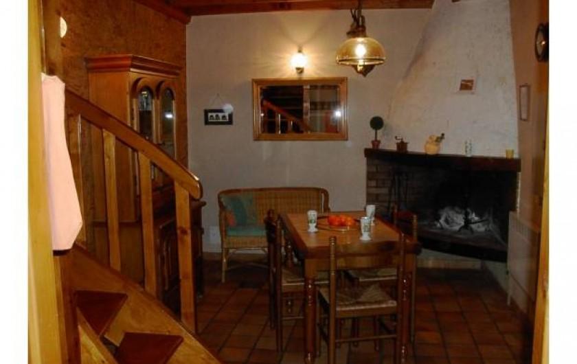 Location de vacances - Maison - Villa à Viella - Séjour cheminée