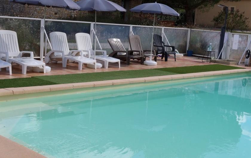 Location de vacances - Gîte à Salviac - Piscine sécurisée et chauffée