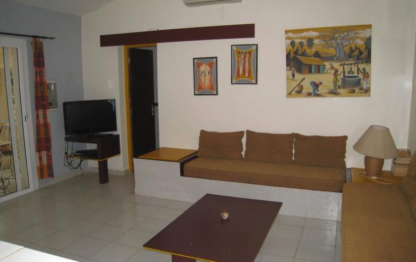 Location de vacances - Appartement à Somone - Séjour
