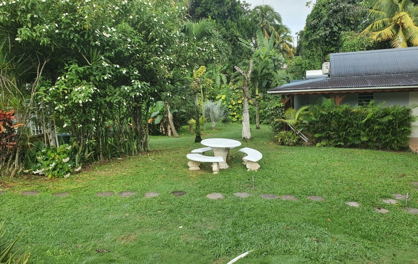 Location de vacances - Villa à Petit Bourg - jardin tropical