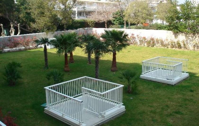 Location de vacances - Appartement à Cannes - Jardin