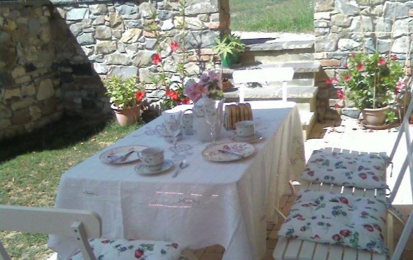 Location de vacances - Appartement à Incisa in Val d'Arno - Breakfast au dehors