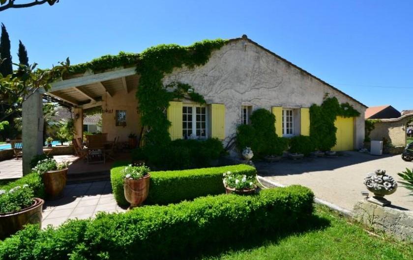 Location de vacances - Villa à Monteux - FACADE EST