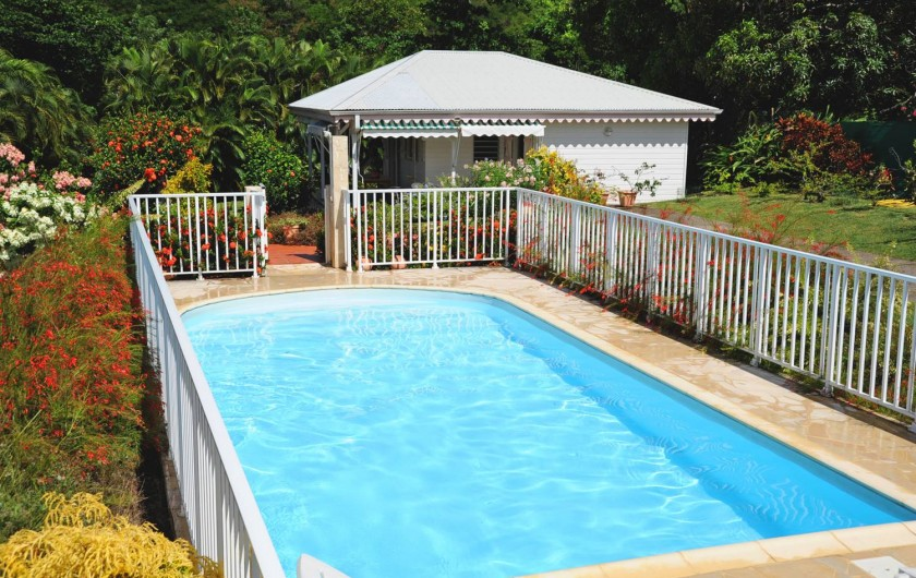 Location de vacances - Bungalow - Mobilhome à Le François - Villa F3 avec sa piscine privée.