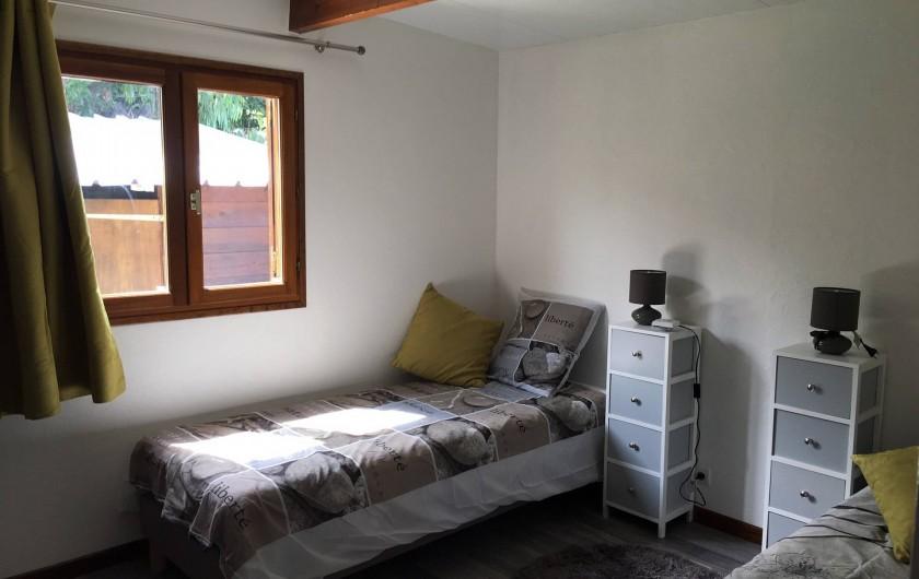Location de vacances - Chalet à Saint-Leu - Chambre avec lits 2x80