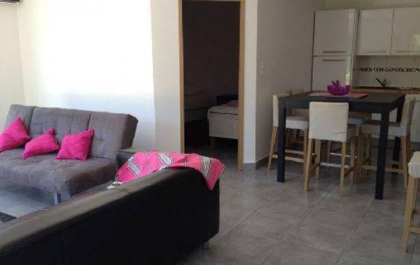 Location de vacances - Appartement à Porticcio - coin salon