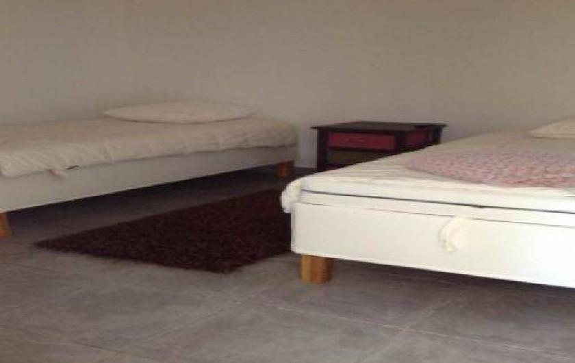 Location de vacances - Appartement à Porticcio - chambre 2 lits 90/190