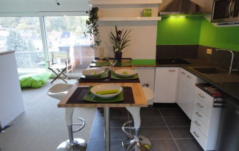 """Location de vacances - Studio à Namur - Penthouse: """"Bali Life Style"""" pour 2 à 4 personnes. 55 m2"""