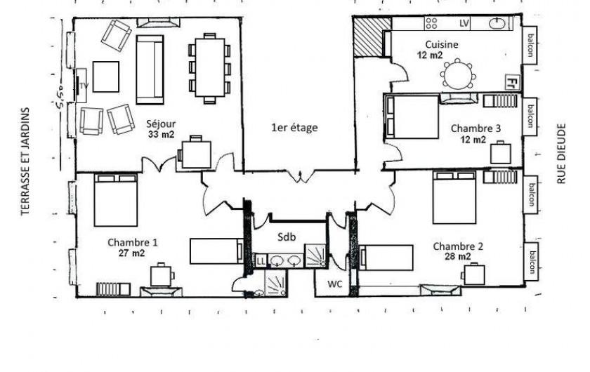 Location de vacances - Appartement à 6e Arrondissement - plan