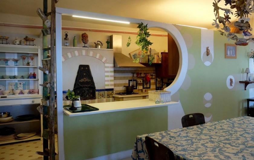 Location de vacances - Villa à Massa Lubrense - Salle a manger