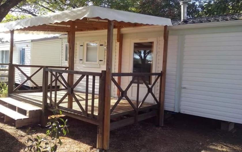 Location de vacances - Camping à Massillargues-Attuech - MOBILE HOME  4 pers Figuier
