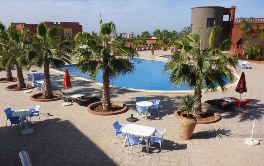 Location de vacances - Villa à Mirleft - La piscine du haut du village accessible à tous.