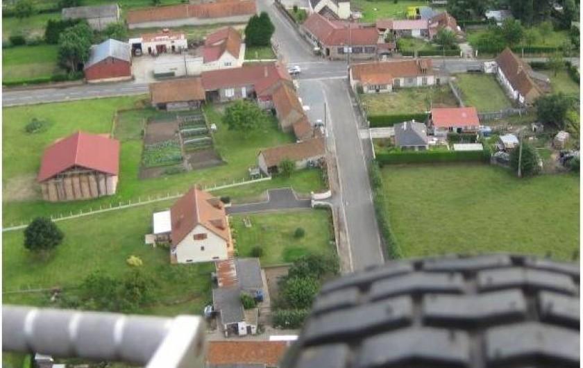 Location de vacances - Gîte à Brailly-Cornehotte - vue aerienne d'une partie du village
