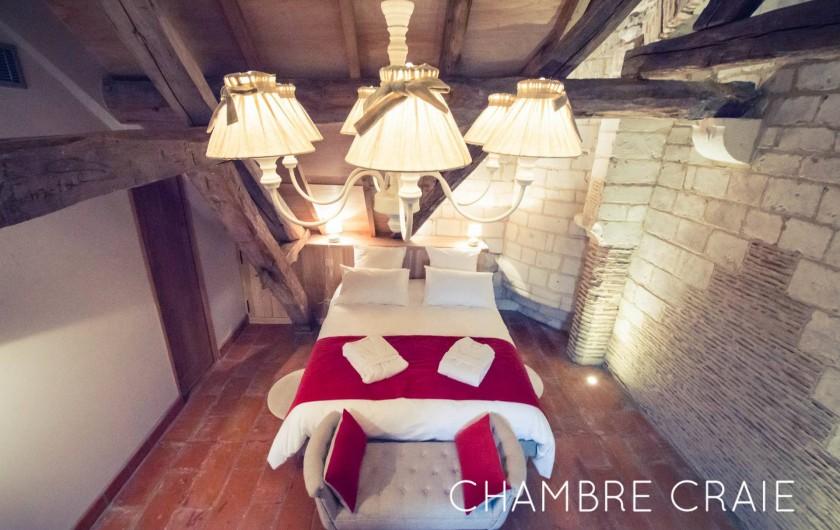 Location de vacances - Chambre d'hôtes à Sainte-Maure - Chambre Craie