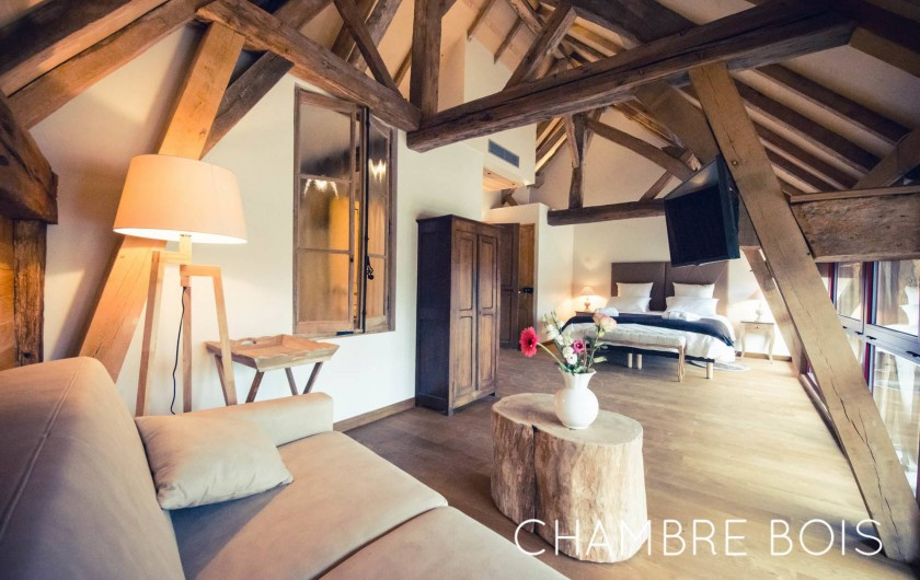 Location de vacances - Chambre d'hôtes à Sainte-Maure - Chambre Bois