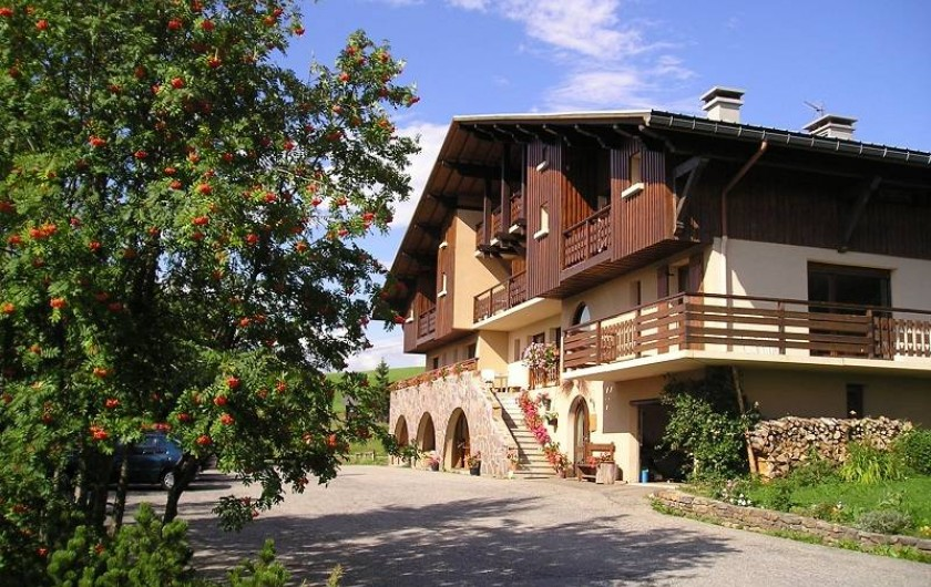 Location de vacances - Chalet à Cohennoz - LA CROIX DES AMBAILLES EN ETE