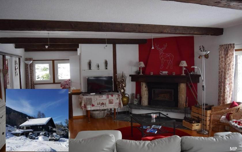 Location de vacances - Appartement à Vercorin - Séjour