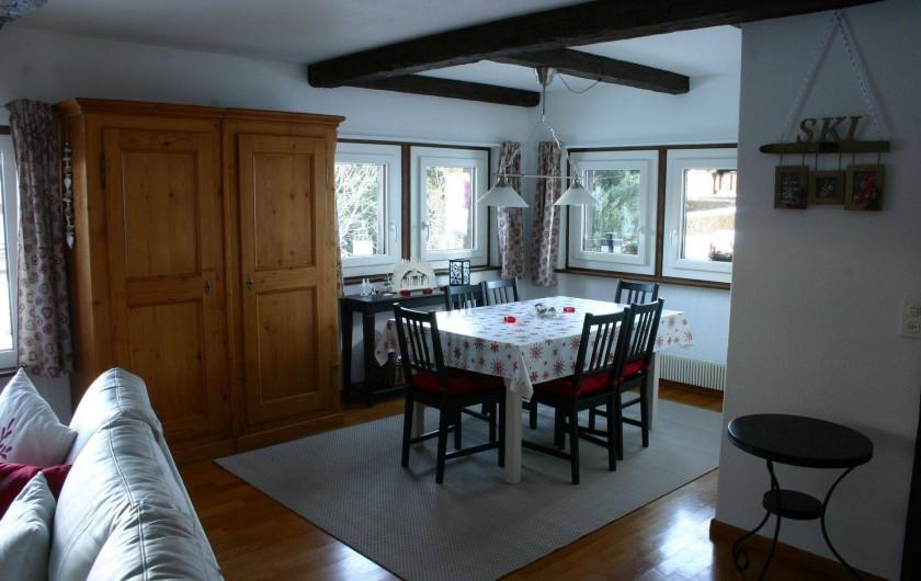 Location de vacances - Appartement à Vercorin - Coin à manger