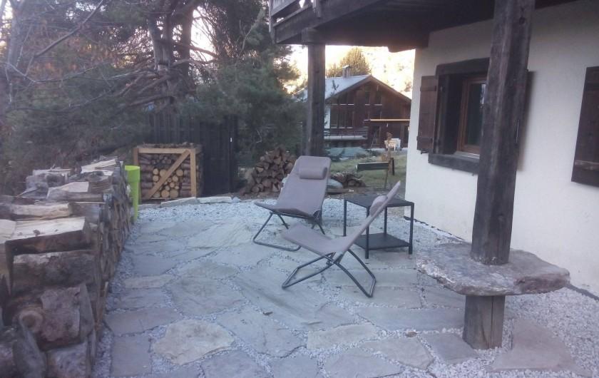 Location de vacances - Appartement à Vercorin - Terrasse Ouest