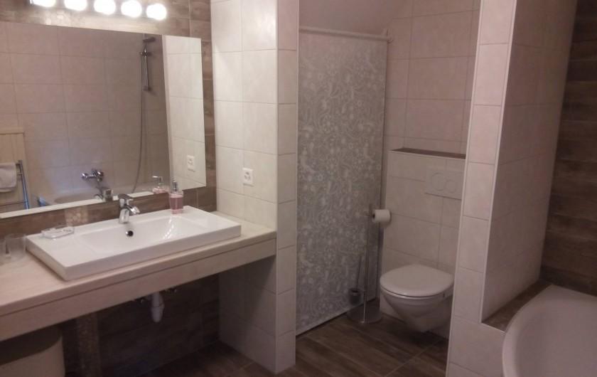 Location de vacances - Appartement à Vercorin - Salle de bains - WC