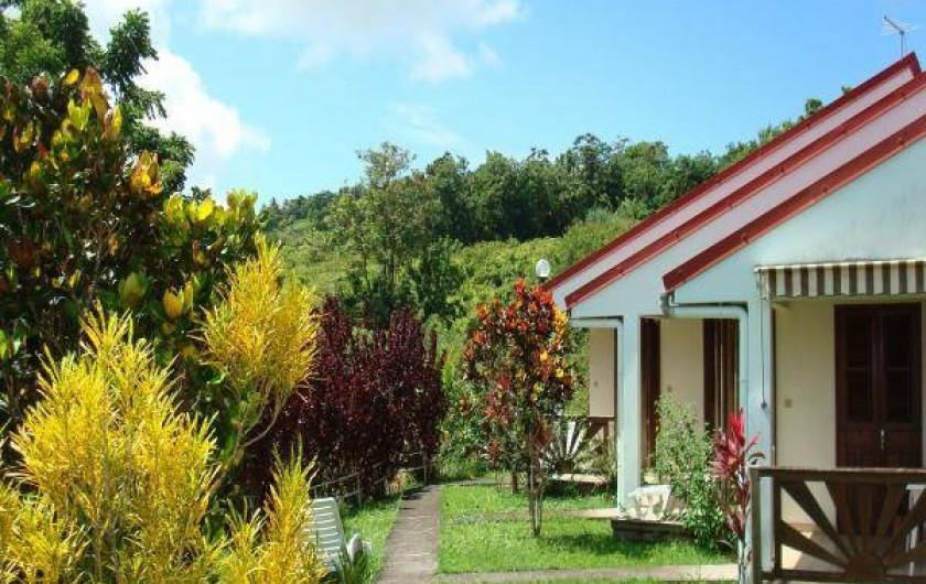 Location de vacances - Studio à La Trinité - Vue donnant sur les Pitons du Carbet et Mt Pelée