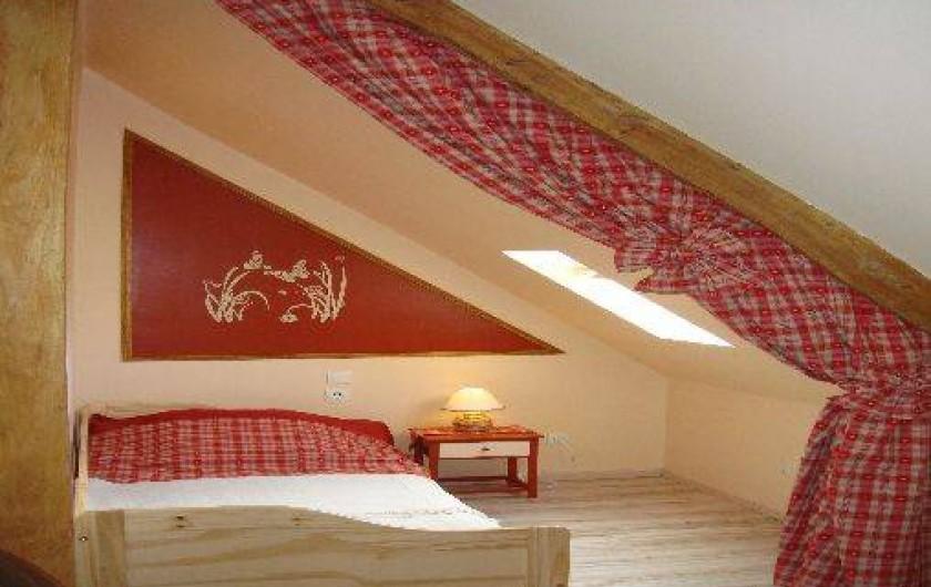 """Location de vacances - Gîte à Nibas - chambre avec lit gigogne """"2 places"""""""