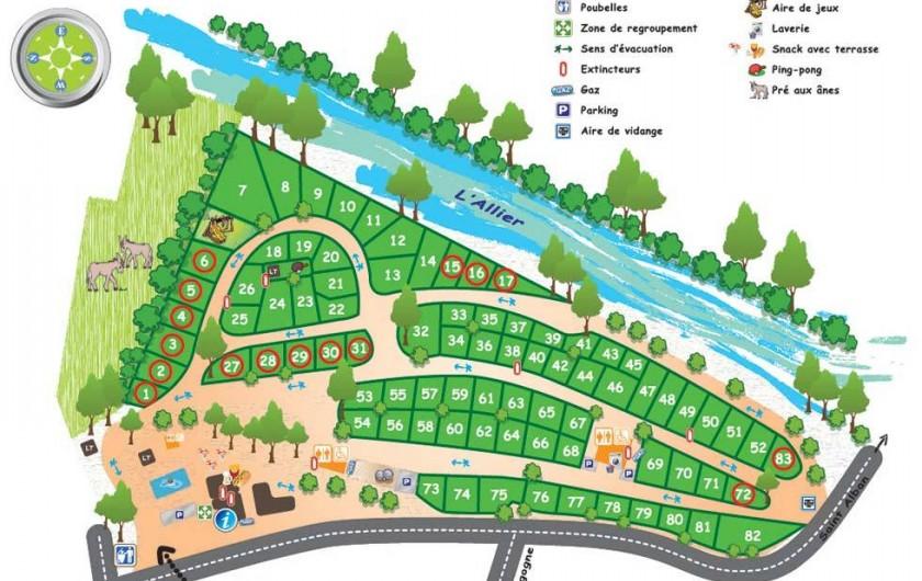 Location de vacances - Camping à Langogne - Le plan du camping