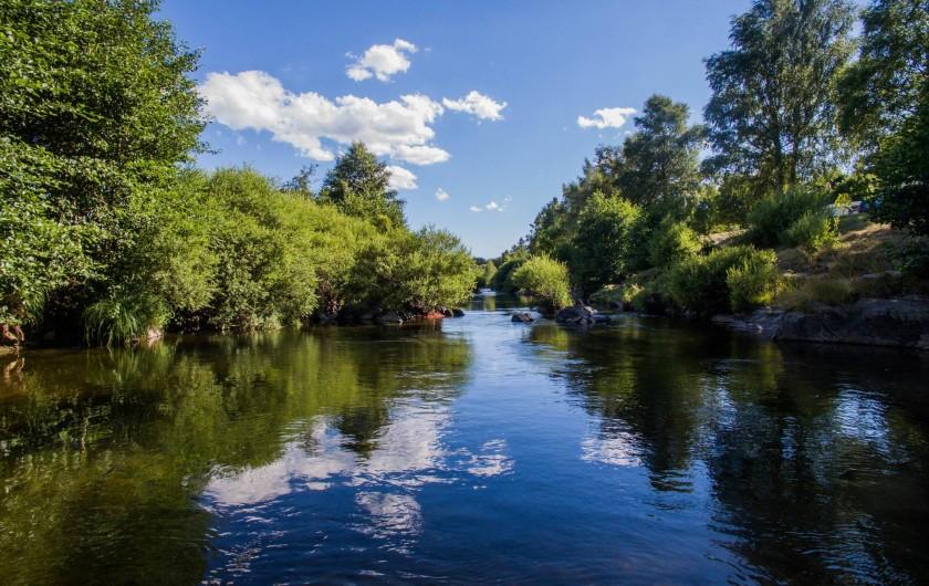 Location de vacances - Camping à Langogne - La rivière l'Allier accessible directement pour nager, pêcher, etc...