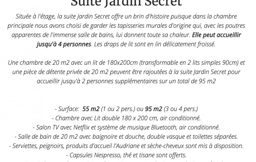 Suite Jardin Secret