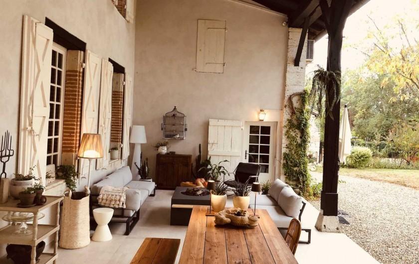 Location de vacances - Chambre d'hôtes à Saint-Paul-d'Espis - Terrasse couverte