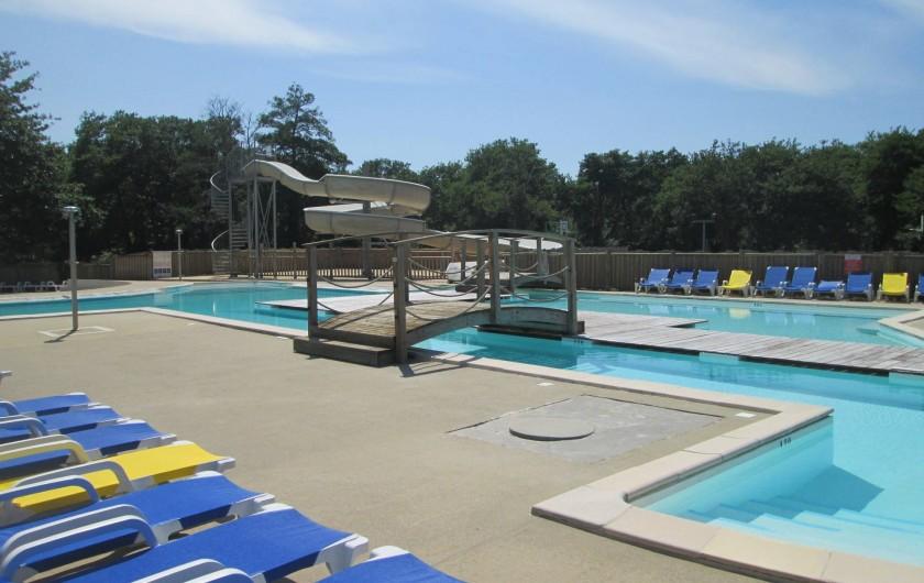 Location de vacances - Bungalow - Mobilhome à Mimizan - piscine Camping Azur