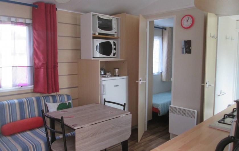 Location de vacances - Bungalow - Mobilhome à Mimizan - interieur mobilhome Azur