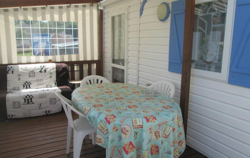 Location de vacances - Bungalow - Mobilhome à Mimizan - Terrasse Azur