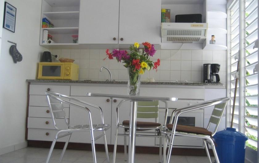 Location de vacances - Appartement à Sainte-Anne - Le coin cuisine