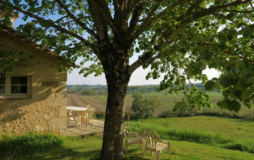 Location de vacances - Gîte à Villeréal - Vue panoramique sur la vallée