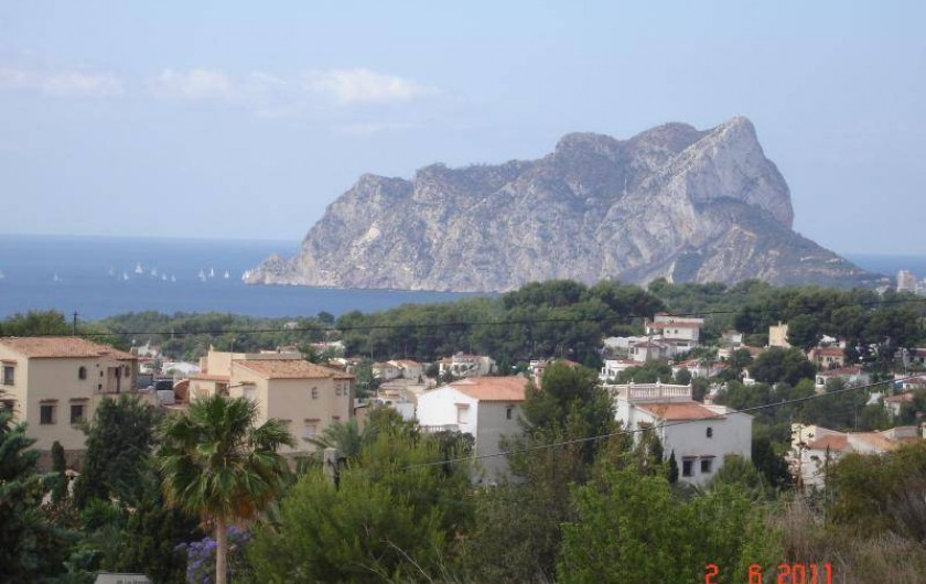 Location de vacances - Villa à Benissa - vue de la terrasse
