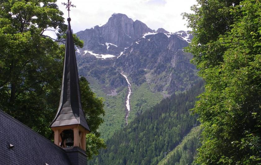 Location de vacances - Appartement à Chamonix-Mont-Blanc - Le Brévent vue du balcon