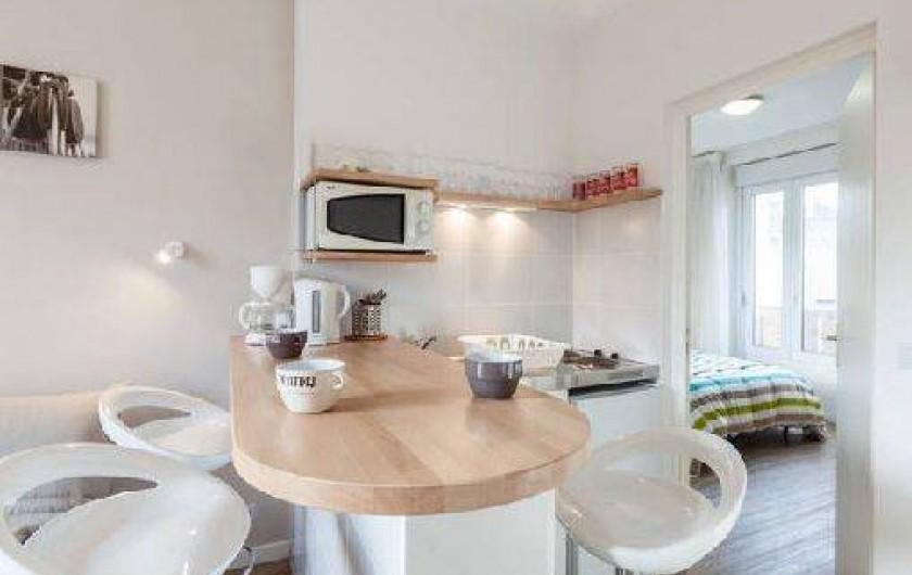 Location de vacances - Appartement à Saint-Malo - vue d'ensemble du T1