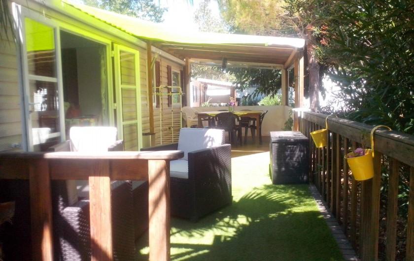 Location de vacances - Bungalow - Mobilhome à Vias - La terrasse