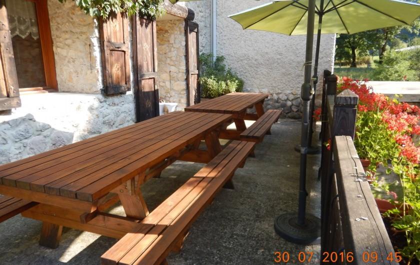 Location de vacances - Gîte à Saint-Agnan-en-Vercors - balcon du gîte