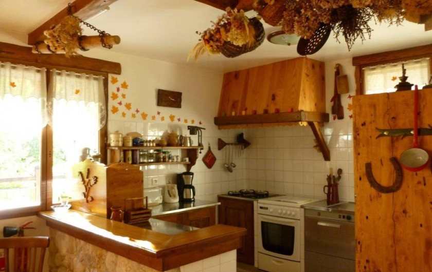 Location de vacances - Gîte à Saint-Agnan-en-Vercors - cuisine