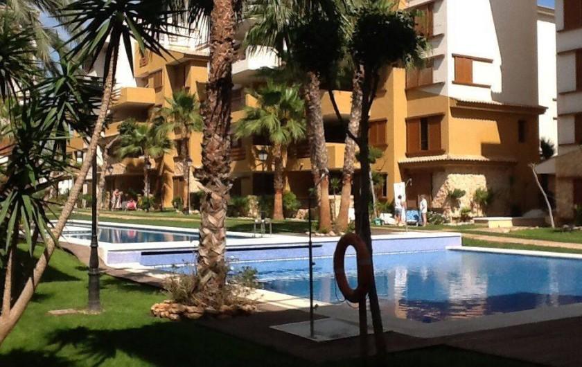 Location de vacances - Appartement à Torrevieja - Vue de la piscine de la propriété