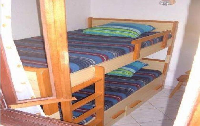 Location de vacances - Villa à Cargèse - chambre cabine ( lits 0,90m ) superposés)