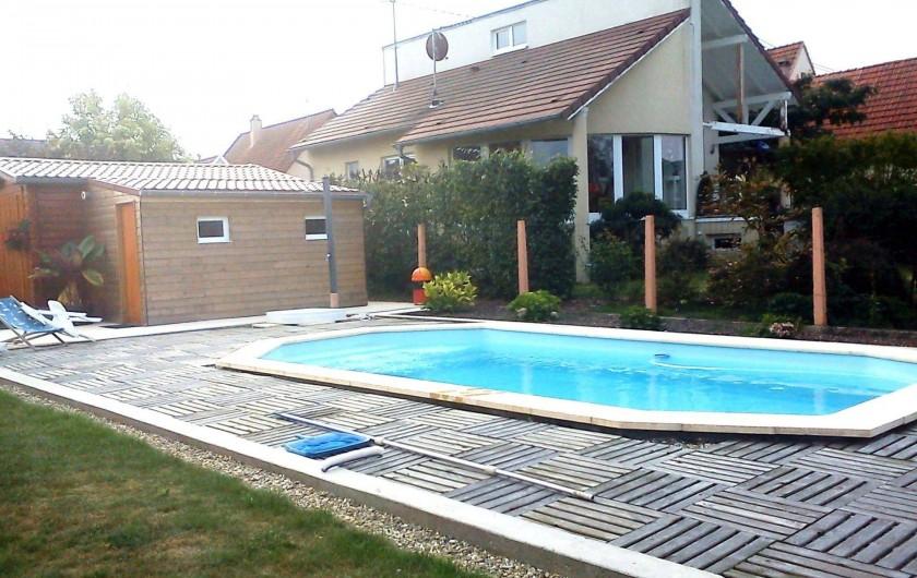 Location de vacances - Appartement à Schleithal - la piscine
